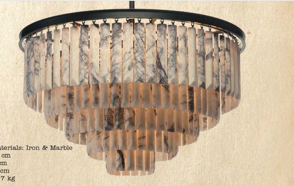 Lustre en marbre lampe de salon lampe d'ingénierie lampes personnalisées lustre de haute qualité