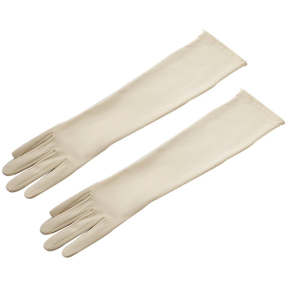 1 Paar 38 Cm Frauen Elegante Oper Satin Handschuhe Ellenbogen Länge Satin Handschuhe Bankett Hochzeit Abend Halloween Phantasie Kleid Party Kosten
