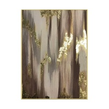 Excellent Artist Hand-painted High Quality Abstract Golden Oil Painting on Canvas Luxury Gold Foil canvas