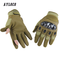 Mens Gloves Tactical Army Combat Military Gloves Men SWAT Soldier Full Finger Hard Knuckle Shoot Paintball Bicycle Gloves