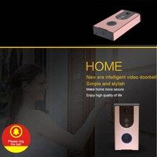 Смарт Wi-Fi видео звонок ночного видения мобильного удаленного Интерком 120 градусов ПИР Беспроводной интеллектуальные Визуальный дверной звонок