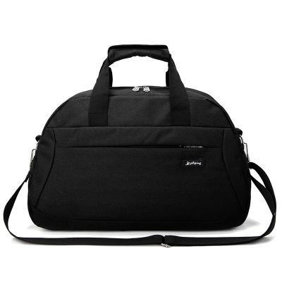 Новинка, корейские повседневные дорожные сумки, мужские дорожные сумки, нейлоновые дорожные сумки, вместительные сумки для багажа, сумки для путешествий - Цвет: Black