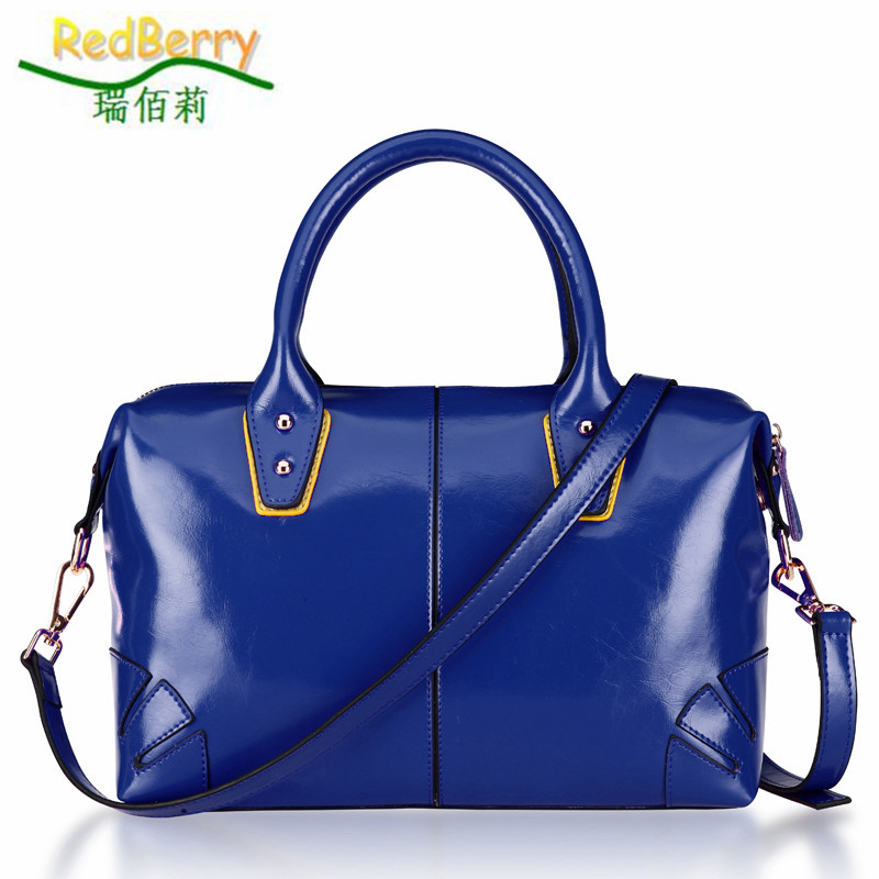 2015 New Oil Wax Cowhide Women Tote Hot Women Leather Handbag All-match Shoulder bag Fashion Women Messenger Bags 4 Color Bolsas 5 sets new arrived women leather handbags high grade shoulder bag all match fashion women messenger bags clutch lady bolsas 5set
