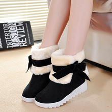 Women Boots 2016 Winter Boots Women shoes Snow winer shoes short fur Platform Ankle Boots For Women Botas Mujer