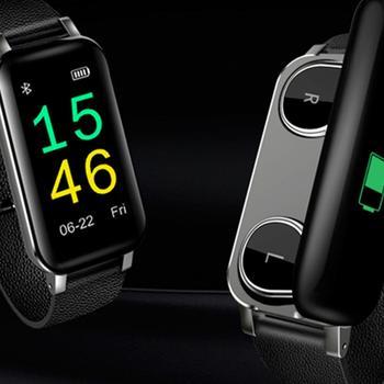 T89 Smart Watch With TWS Bluetooth Earphone Headphone Fitness Bracelet Tracker Heart Rate Monitor Smart Wristband Smartwatch Men
