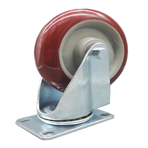 Heavy Duty 125mm Rubber Wheel Swivel Castor Wheels Trolley Caster Brake Set of castor:without brake