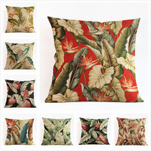 Africa Tropical Plant Banana Leaf Throw Pillow Case Cushion Cover Sofa Decor sofa chair Wedding decoration for home present gfit цены
