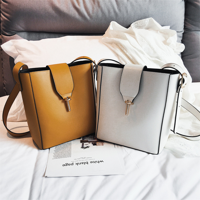 Burminsa Fall Bucket Shoulder Bags Female Large Capacity Designer Handbags Women Shopper Bags PU Leather Ladies Hand Bags 2018