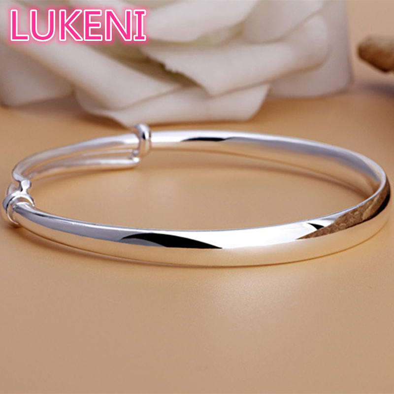 LUKENI Authentic S990 Sterling Silver Classic adjustable bracelet Bracelets & bangles for women Free shipping S258 1 piece canon as 120 genuine curved body design classic 12 big screen calculator authentic free shipping