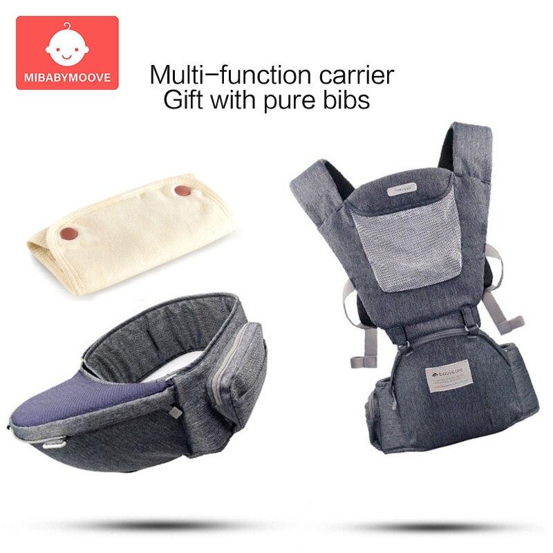 Porte-bébé ergonomique sac à dos nouveau-né porte-Hipseat face avant prévenir les jambes de type o réglable élingue confort bébé kangourous