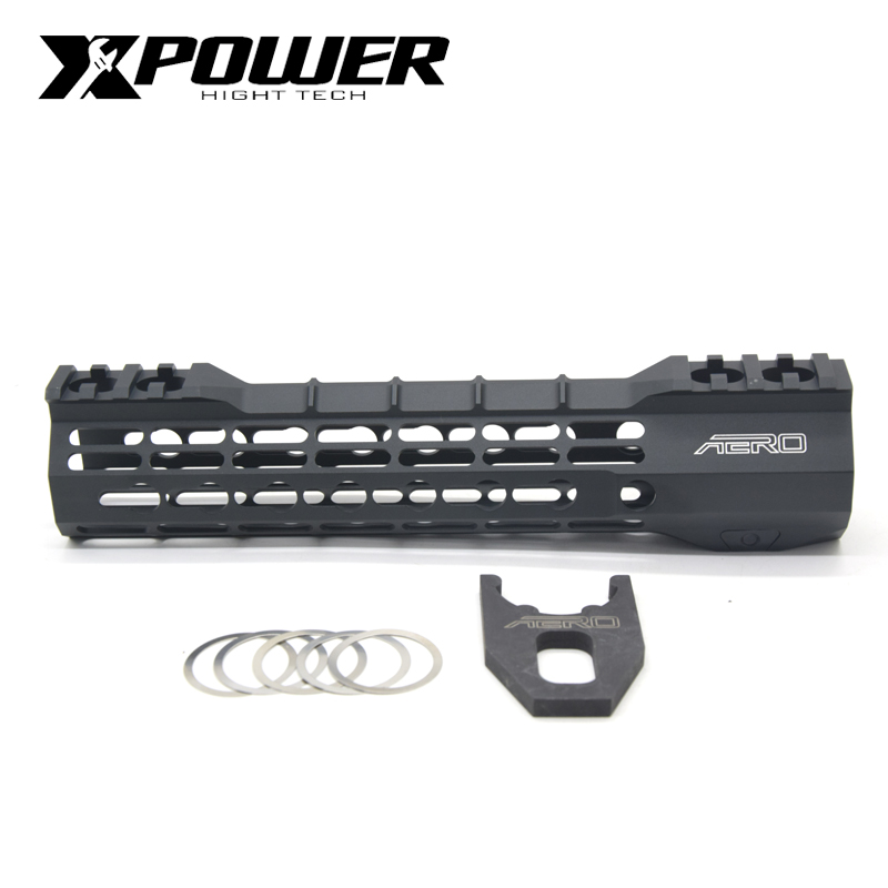 """XPOWER Rail System 9"""" 12"""" Handguard For Keymod AR15 AEG M4A1 Airsoft Air Guns Paintball Gel Blaster-in Paintball Accessories from Sports & Entertainment"""