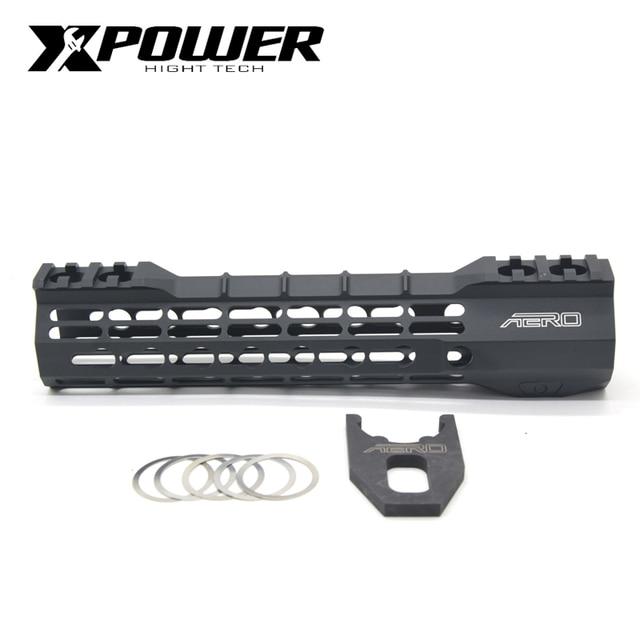"""XPOWER Rail System 9"""" 12"""" Handguard For Keymod AR15 AEG M4A1 Airsoft Air Guns Paintball Gel Blaster"""