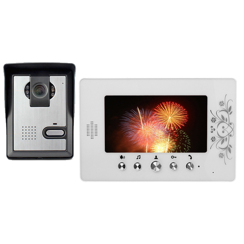 7 LCD Monitor Video Door Phone Intercom Doorbell System IR night vision Camera Video Intercom Kit 1 Carmera+1 monitor for villa 7 inch lcd color video door phone doorbell intercom entry system kit unlock night vision monitor and rainproof ir camera 3v1