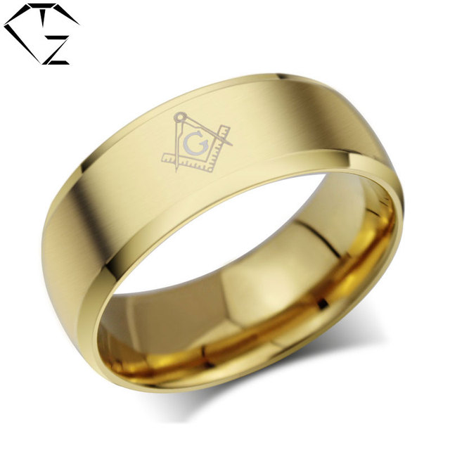 gz letter ring gold color g stainless steel trendy simple wedding rings for women men jewelry - Simple Wedding Ring