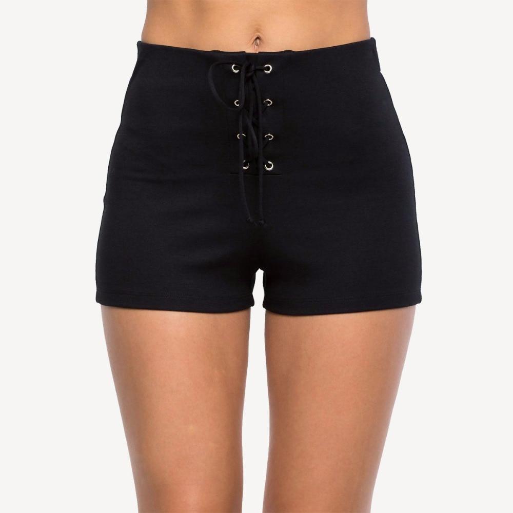 Summer new hot fashion sexy bag hip strap decoration high waist slim tight casual female shorts