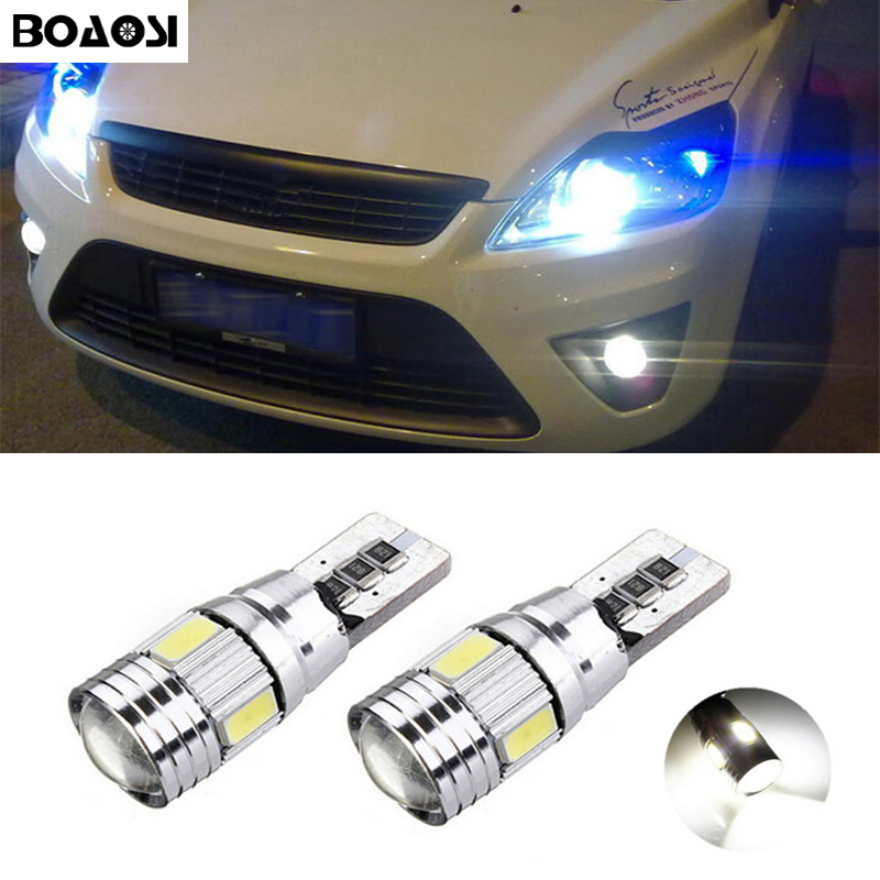 BOAOSI 2x Canbus LED T10 W5W Clearance Parking Light Wedge Light For Ford Focus 1 2 3 Fiesta Mondeo Ecosport Kuga
