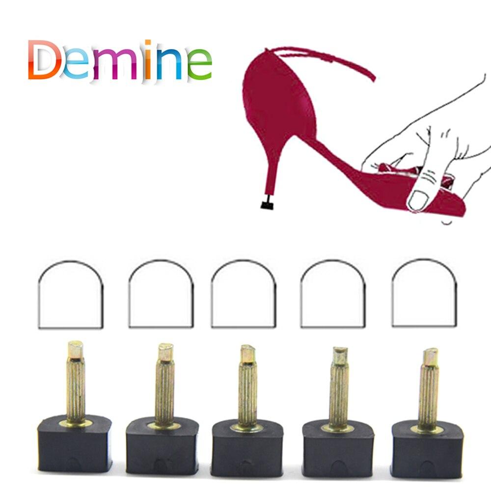 2 Pairs Fixed Anti Slip Repair Black Heel Shoes Silencer Replacement Heel Care Kit Tool DIY Repairs Tips Pin Dowels