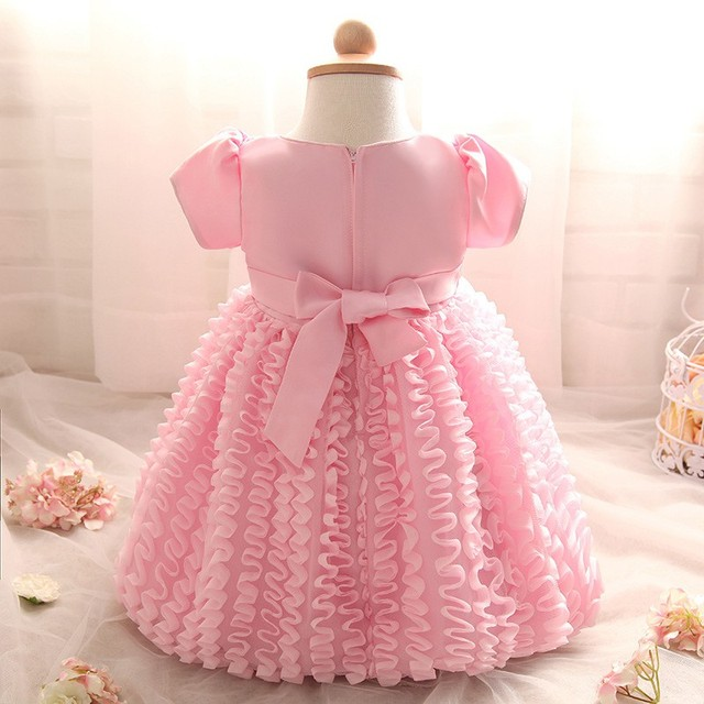 Newborn Baby girl princess dress wedding 1 year Birthday Summer party girls tutu dress infant baptism for kids clothes