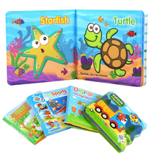 Baby Bath Toy Book Cartoon Animals Floating Waterproof Can't Tear off Books Early Learning Educational Toys Puzzle Book toy N1