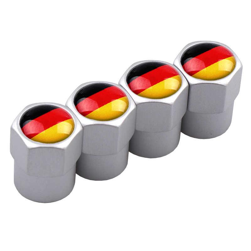 4 шт./компл. Флаг Германии, логотип Анти-кражи колпачки для колес Стикеры для колеса шины колпачки для остановки воздуха для Авто AUDI Benz BMW Мазда Форд Лада стайлинга автомобилей