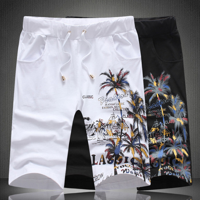 2019 New Summer Beach Shorts Sets Men Casual Coconut Island Printing Suits Mens Clothing Suit Male Sets T Shirt +Pants 5XL 5