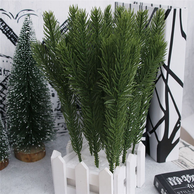 Coffee Christmas Tree Ornaments.Us 3 73 30f 10pcs Artificial Flower Fake Plants Pine Branches Christmas Tree For Christmas Home Office Coffee Shop Bar Decor Ornaments In