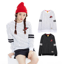 2015 New Vertical Stripes Baseball Dog Men and Women Lovers Sweatshirts With Round Collar Fleece