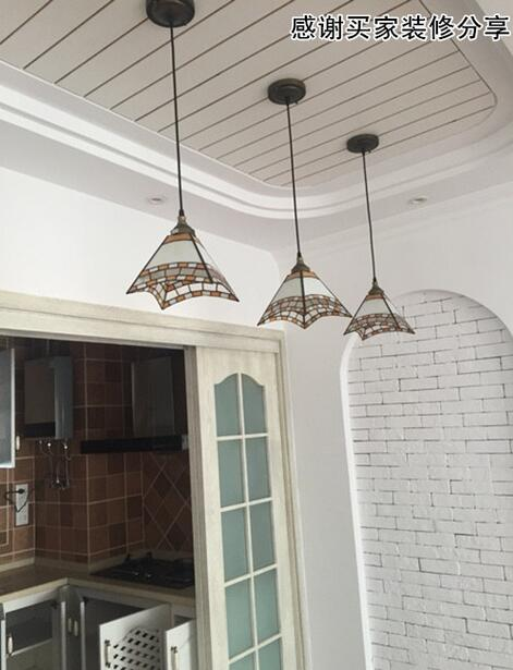 The Multicolored Tiffany  Glass Pendant Lights balcony aisle porch corridor Mediterranean bar hall study hall tiffany restaurant in front of the hotel cafe bar small aisle entrance hall creative pendant light mediterranean df66
