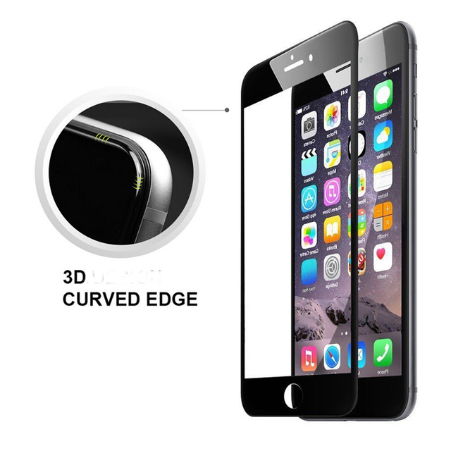 3D Curved Edge Full Cover Screen Protector For iPhone 6 6s Tempered Glass on iPhone 7 6s 6 8 Plus Protective Glass for iphone 6
