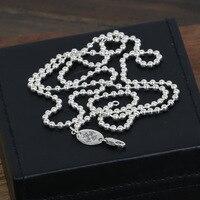 Commercio all'ingrosso S925 Gioielli In Argento Sterling Silver Ciondolo con stile Coreano Unisex 3 M Catena Collana