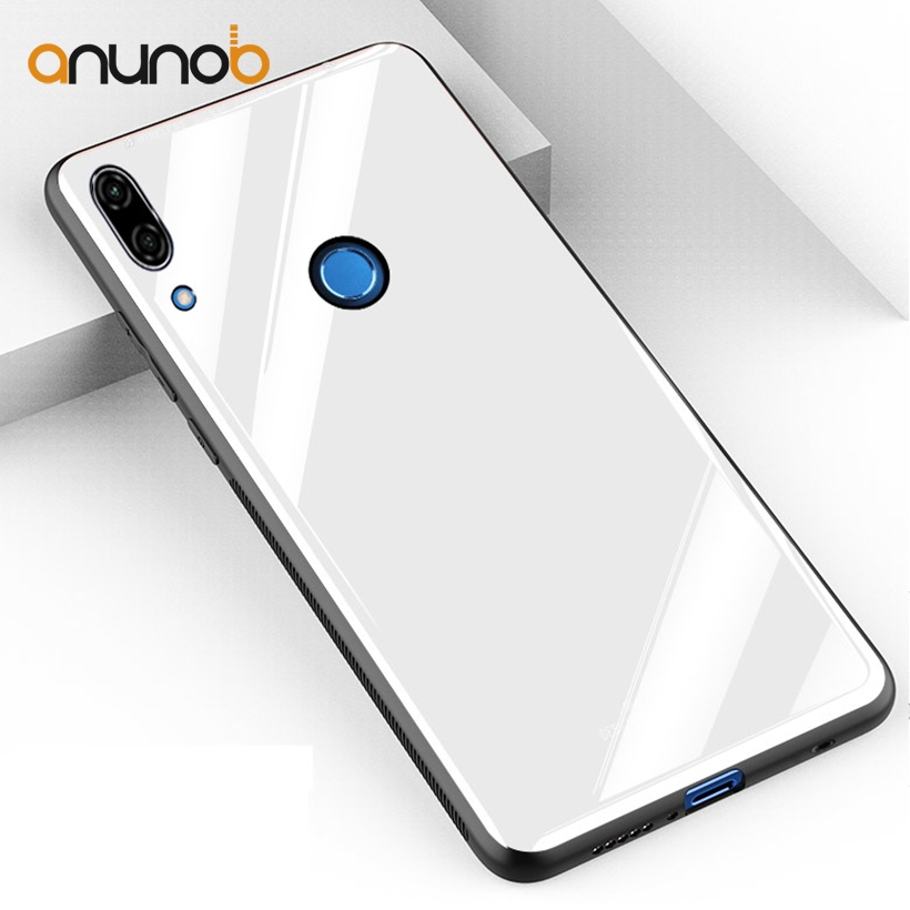 Anunob Case For Huawei P20 lite Cases Huawei nova 3E Tempered Glass Back Mirror Silicone Bags Shell Skin Hood Housing Cover
