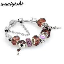 цена на LOVE The high-quality goods act the role ofing is tasted Crystal Charm Bracelet With  Beads Fits Original Brand Bracelet For Wom