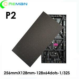 Image 2 - Haute qualité prix le plus bas P2 led module 256mm x 128mm, P2 HD mur vidéo led module écran led 128x64 hub75 smd3in1