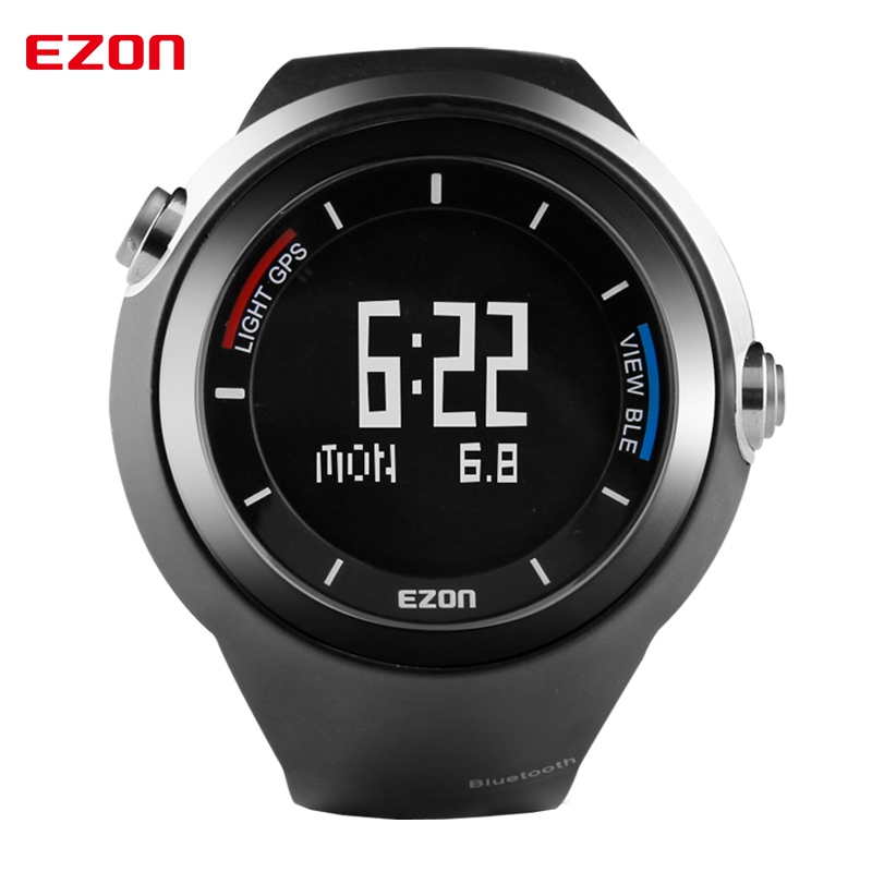 EZON Pedometer GPS Altimeter Thermometer Smart Bluetooth Sports Watch Waterproof 50m Digital Watch Running Watch for IOS Android men s multi function waterproof smart sports running watch s2 with pedometer pair with android 4 3 ios6 0 or higher bluetooth