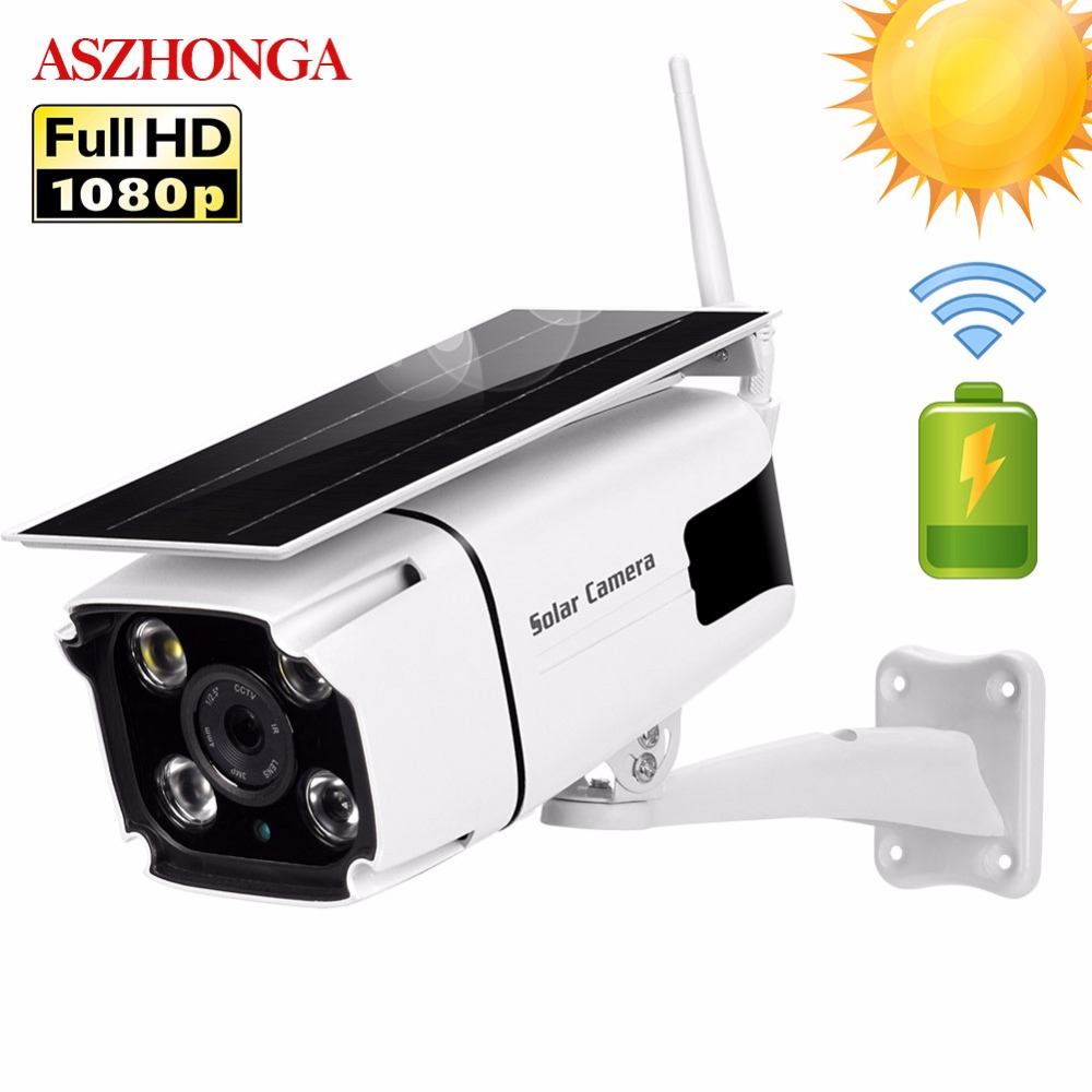 Solar Power IP Camera 1080P HD Wireless WI-FI Surveillance Security Camera Outdoor Waterproof IR Night Vision Outside Solar Cam
