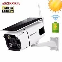 Solar Power IP Kamera 1080P HD Drahtlose WI FI Überwachung Sicherheit Kamera Im Freien Wasserdichte IR Nacht Vision Außerhalb Solar Cam