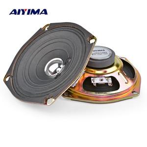Aiyima 2 pçs 5 Polegada alto-falantes de áudio driver 4 8 ohm 5w alto-falante de som gama completa borda papel altifalante amplificador diy em casa teatro