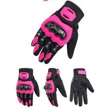 Motorcycle Gloves Women Full Finger Motocross Racing Gloves off road 3 colors Female touch screen Girl