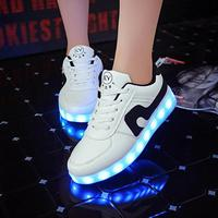 2017 Fashion Child USB Charge Shoes Boys Girls LED Glowing Shoes High Quality Kids Brand Sneakers
