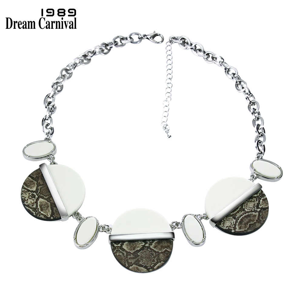 9dfea539f6e0 DreamCarnival 1989 Resin Necklace Snake Pattern Round Beads Summer Holiday  Fashion Jewelry Party Choker Gargantillas y