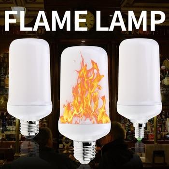 LED E27 Flame Effect Lamp E26 Simulation Fire Burning Light Led 3W 5W E14 Flickering Emulation Candle Lamp 220V Creative Light e27 led flame effect light bulbs e14 220v simulation fire burning lamp e26 5w led 12v flickering emulation creative light bulb