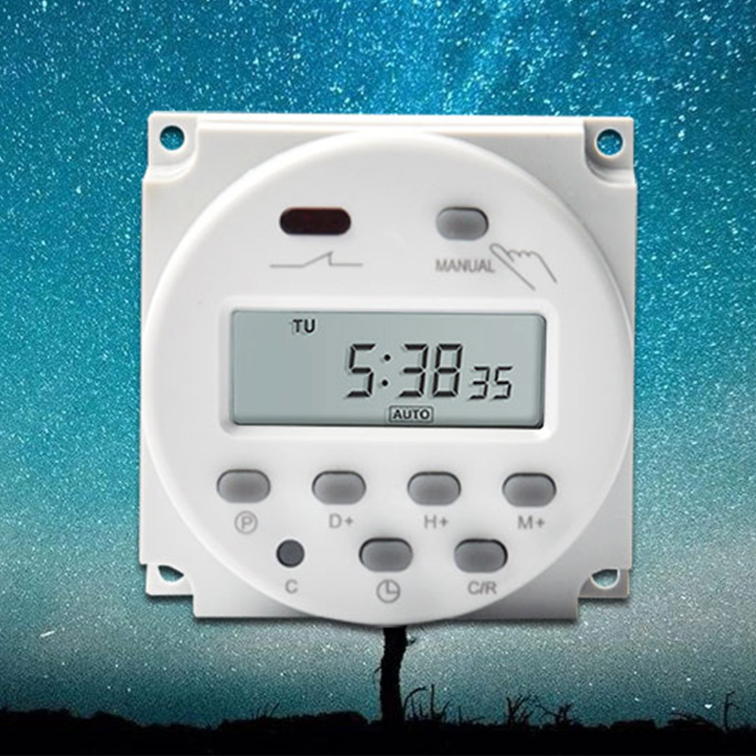Digital LCD Electronic Daily Weekly Programmable Timer 220V AC DC Auto On/Off Relay Time Control Switch