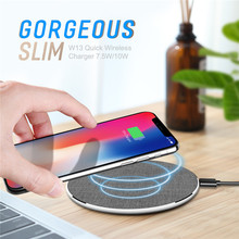 ROCK W13 Quick Wireless Charger for iPhone X, 8 and Samsung Galaxy S9, S8, Note 9