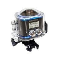 Barato 360 cámara panorámica de acción gran angular cámara resistente al agua WiFi 2448*2448 /30fps Full HD Cam 16MP VR Cámara