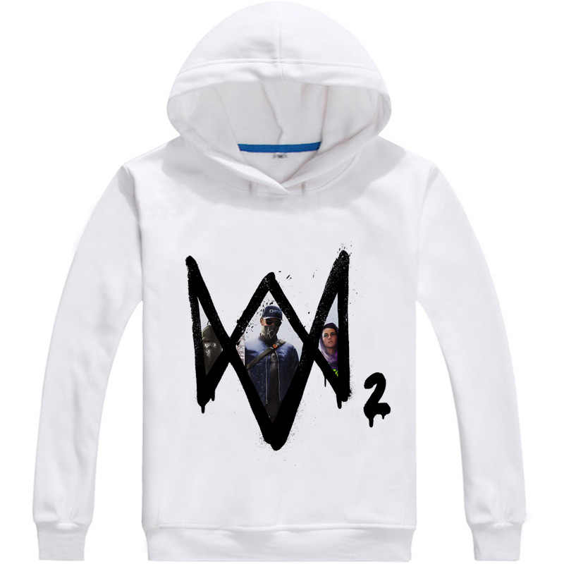 Coolprint Anime Hoodies montre chiens 3D Hoodies multi-style manches longues à capuche Action aventure Aiden Pearce Cosplay Sweatshirts