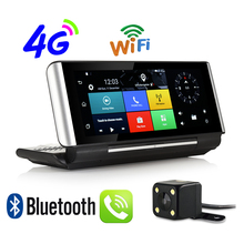 Udricare 7 inch 4G SIM Card Android GPS WiFi Bluetooth Phone Call DVR Dual Lens FHD 1080P DVR 1GB RAM Rear View Camera GPS
