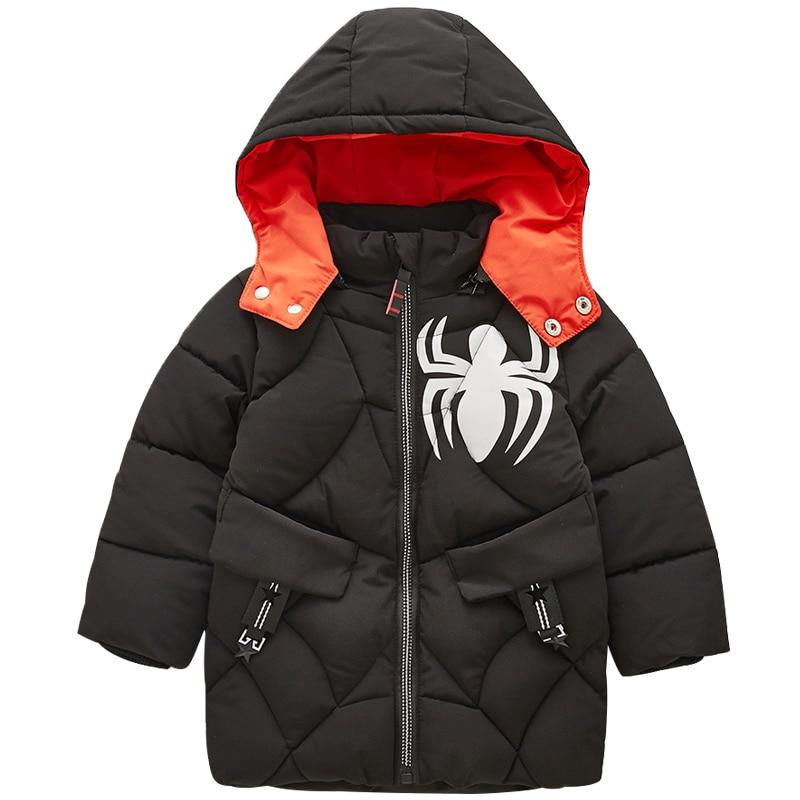 Kids Coats Children Winter Coats 2018 New Baby Boy Clothes Thick Warm Children Outerwear Boy Cartoon Jacket 2 3 4 5 6 years old