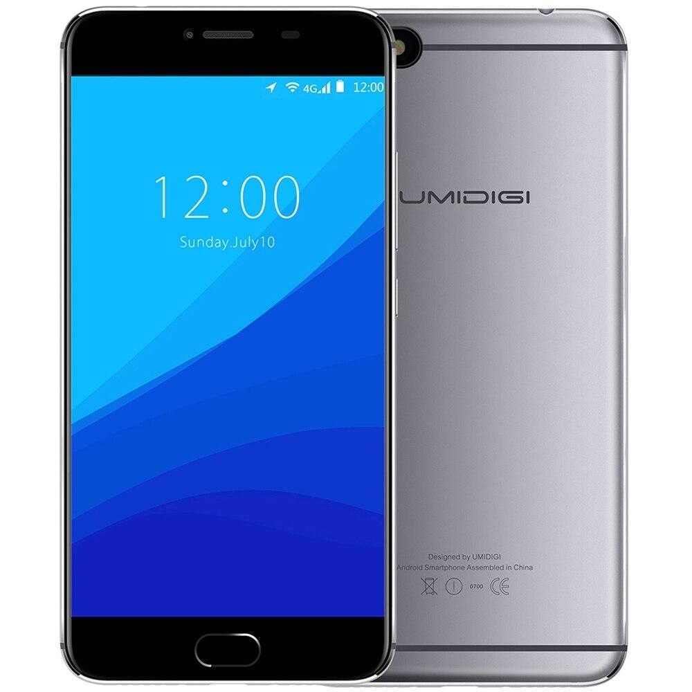 bilder für UMIDIGI C NOTE 4G Handy 5,5 ''Android 7.0 MTK6737T Quad Core 3 GB 32 GB 5.0MP + 13.0MP Dual-kamera Smartphone Schnell ID
