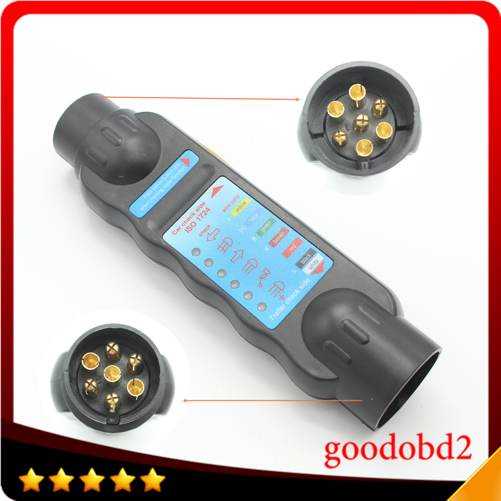 12V Professional 7 Pin Vehicle Car Towing Trailer Light Cable Circuit Plug Socket Tester with 7 LED indicator-in Car Diagnostic Cables & Connectors ...