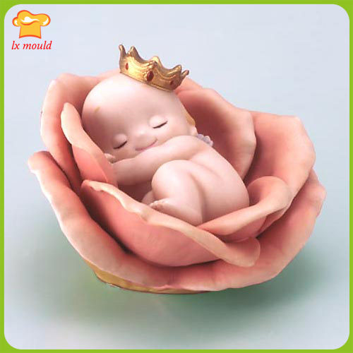 3D Chubby Royal Rose candle molds Valentine's Day wedding birthday cake candles mold silicone clay tools